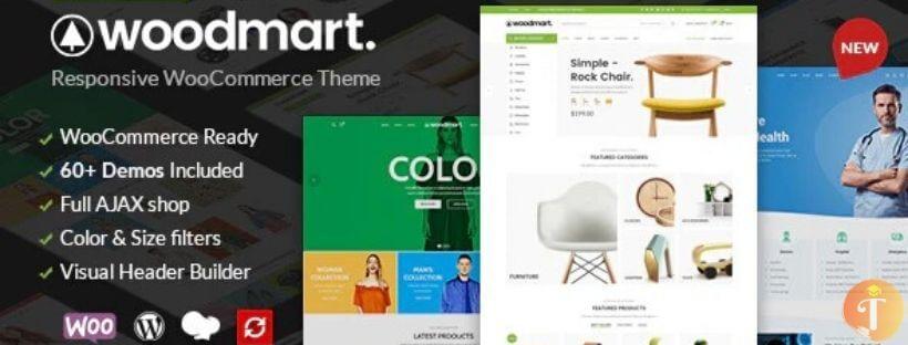 Woodmart - Theme WordPress bán hàng